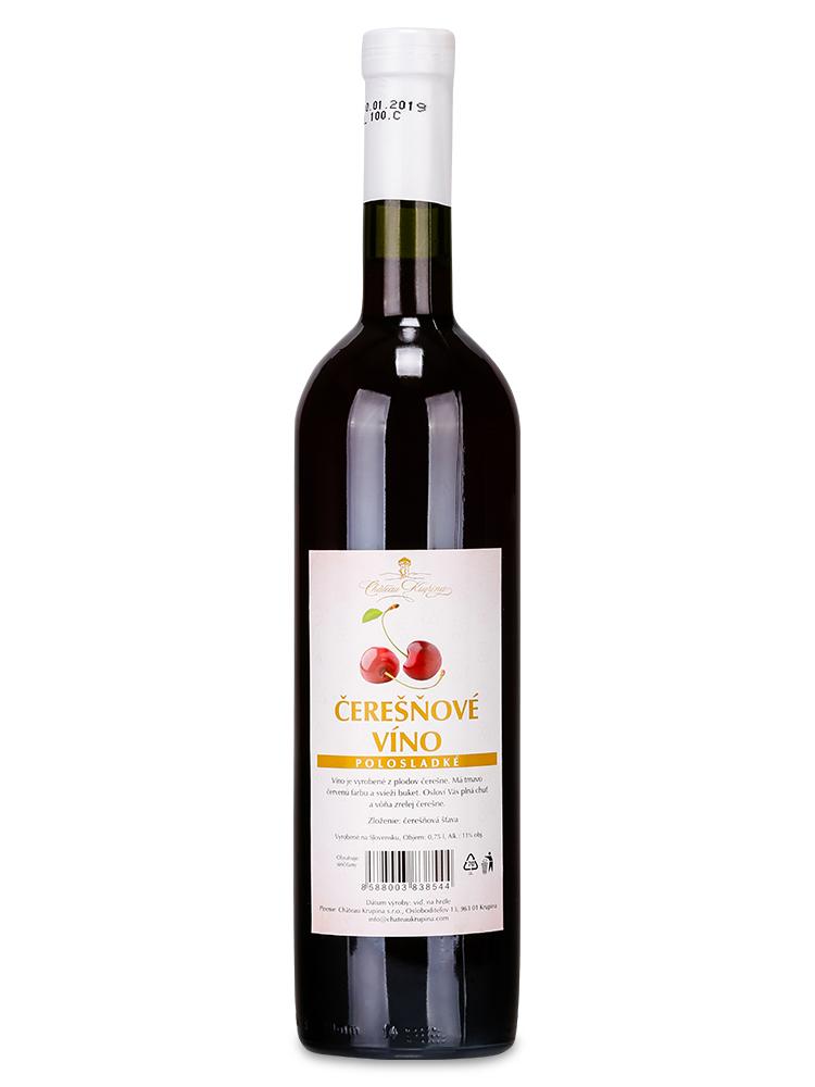 Čerešňové víno Château Krupina 0,75L