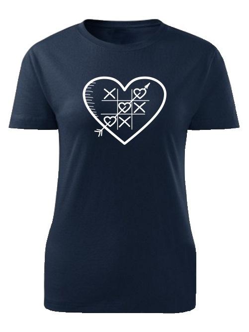 Tričko piškôrky Dámske klasik Námornícke modré