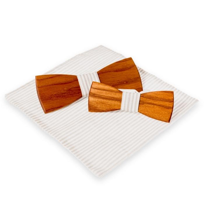 Woodenka detský drevený motýlik klasik + vreckovka grátis