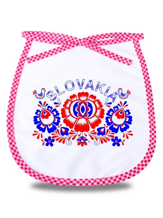 Detský podbradník Slovakia kvet Červený