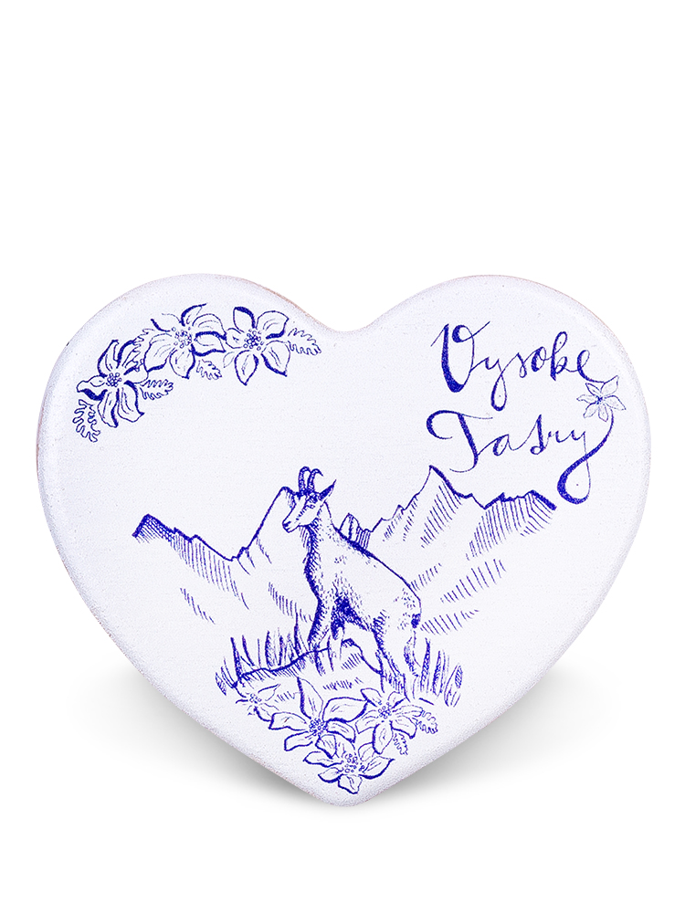 Drevená magnetka Vysoké Tatry - kamzík skica