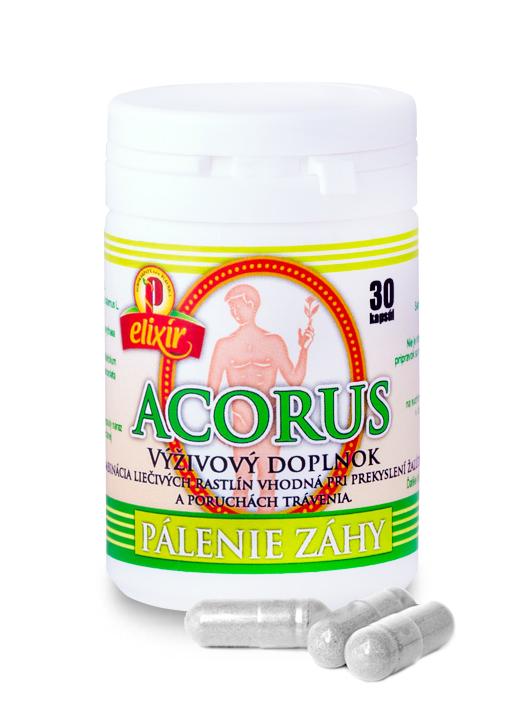 Agrokarpaty Acorus kapsule proti páleniu záhy 30 kapsúl