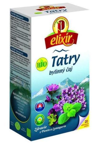 Agrokarpaty tatry bio bylinný čaj 20x1,5g