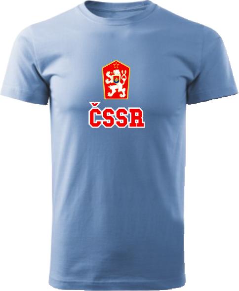 Tričko ČSSR Unisex Svetlomodré