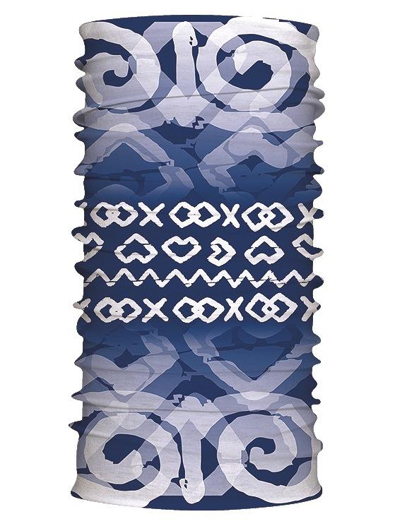 Multifunkčný šál čičmanské znaky modrý 7169