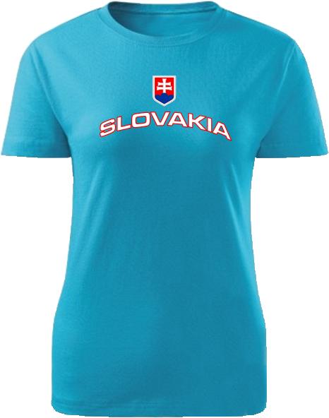 Tričko Slovakia Unisex Tyrkysová