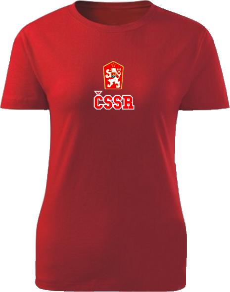 Tričko ČSSR Dámske klasik Červené