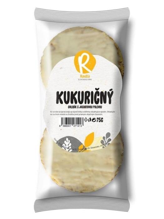 Ravita kukuričný chlebík s jogurtovou polevou 75g