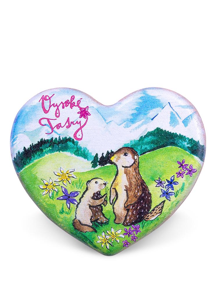 Drevená magnetka Vysoké Tatry - svište