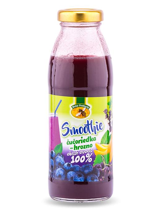 Natur products smoothie čučoriedka - hrozno 100% 300ml