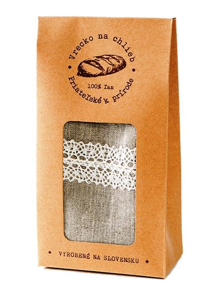 Vrecko na okrúhly chlieb - ľanové