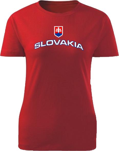Tričko Slovakia Dámske klasik Červené