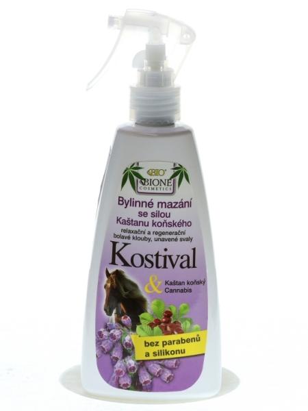 Bione Cosmetics - Bylinné mazanie sprej Kostihoj s pagaštanom konským 260 ml
