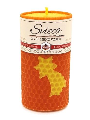 Sviečka včelí vosk oranžová 90mm/50mm