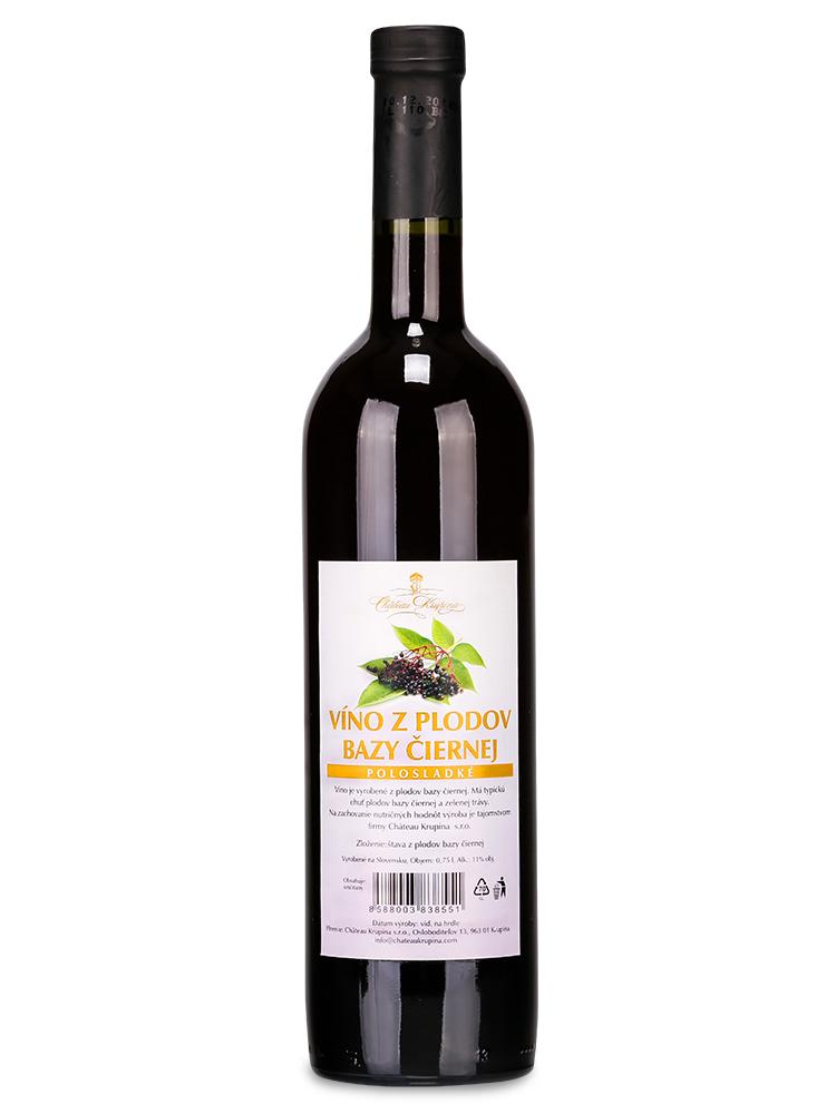 Bazové víno z plodov Château Krupina 0,75L