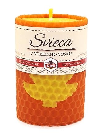 Sviečka včelí vosk oranžová 70mm/50mm