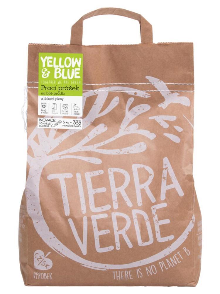 Tierra Verde prací prášok na biele prádlo a plienky - vrecko 5kg