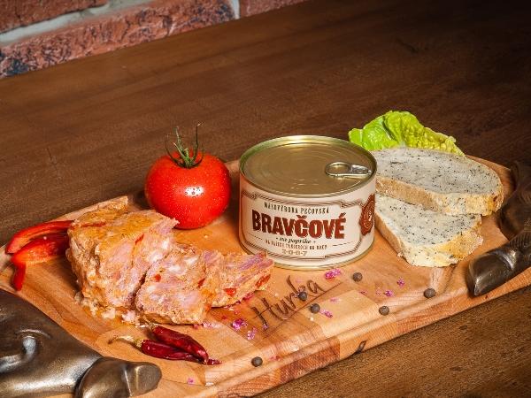 Bravčové mäso na paprike 410g