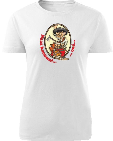 Tričko Pacho - hybský zbojník Dámske klasik Biele