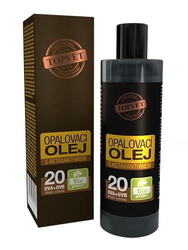 Topvet Opaľovací olej s Astaxanthinom SPF20 100ml