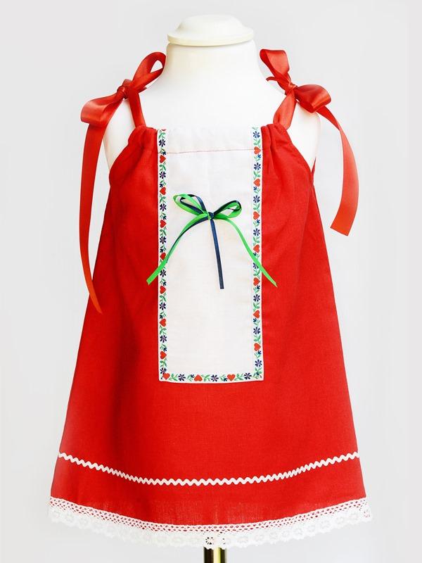 Dievčenské ľudové šaty PAULÍNA 2v1