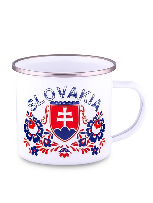 Plechový hrnček Slovakia znak folk 300ml