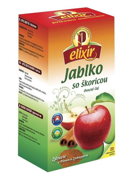Agrokarpaty elixír jablko so škoricou ovocný čaj 20x1,5g