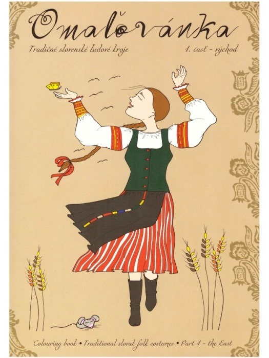Omaľovánka tradičné slovenské ľudové kroje 1.časť - východ