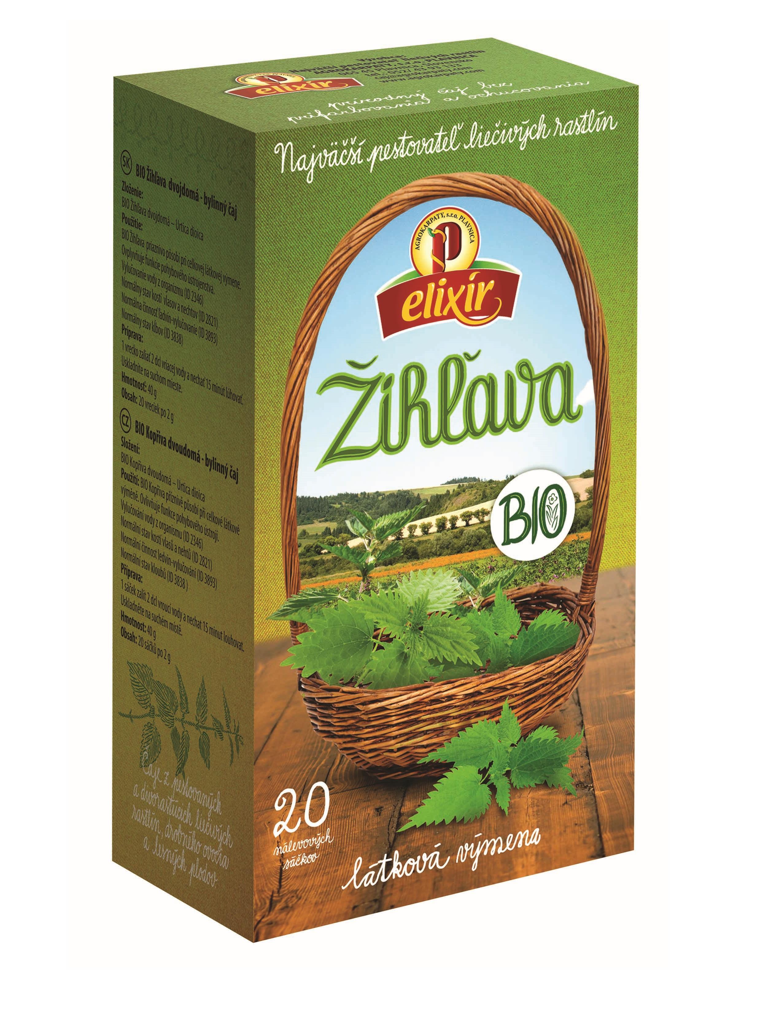 Agrokarpaty žihľavový čaj bio 20x2g