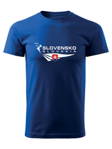Tričko Slovensko orol Unisex Kráľovské modré