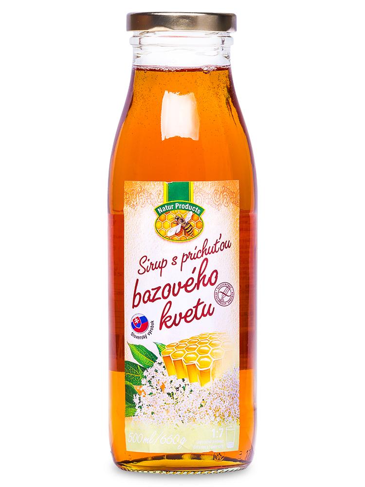 Sirup s príchuťou bazového kvetu s medom 500ml