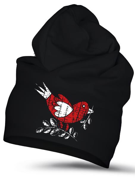 Folklórna čiapka vrabec retro Čierna