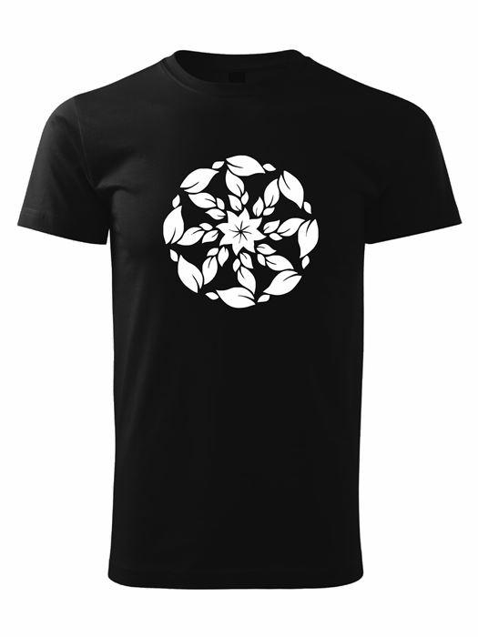 Tričko kolovrat 6 Unisex Čierne