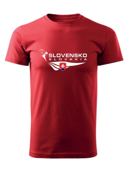 Tričko Slovensko orol Unisex Červené