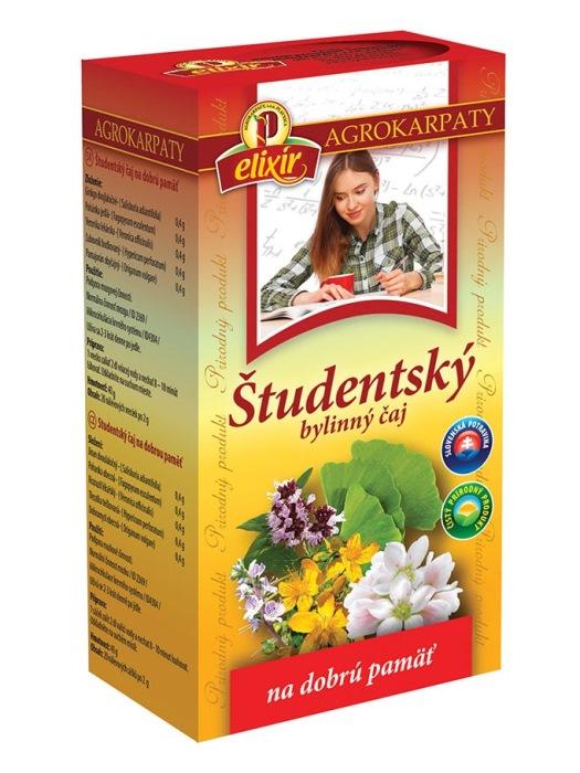 Agrokarpaty študentský bylinný čaj na dobrú pamäť 20x2g