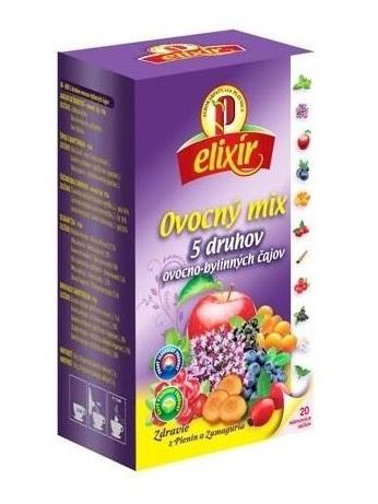 Agrokarpaty ovocný mix 5 druhov ovocno bylinných čajov 5x4ks