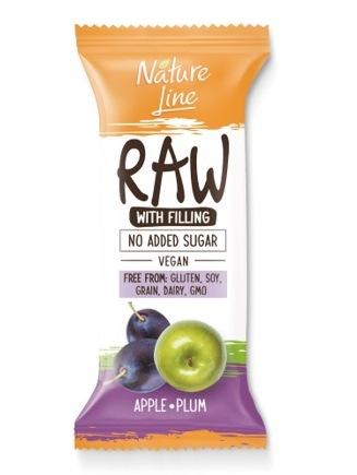 Pečivárne liptovský hrádok RAW tyčinka jablko slivka 45g
