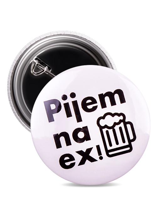 Odznak pijem na ex pivo