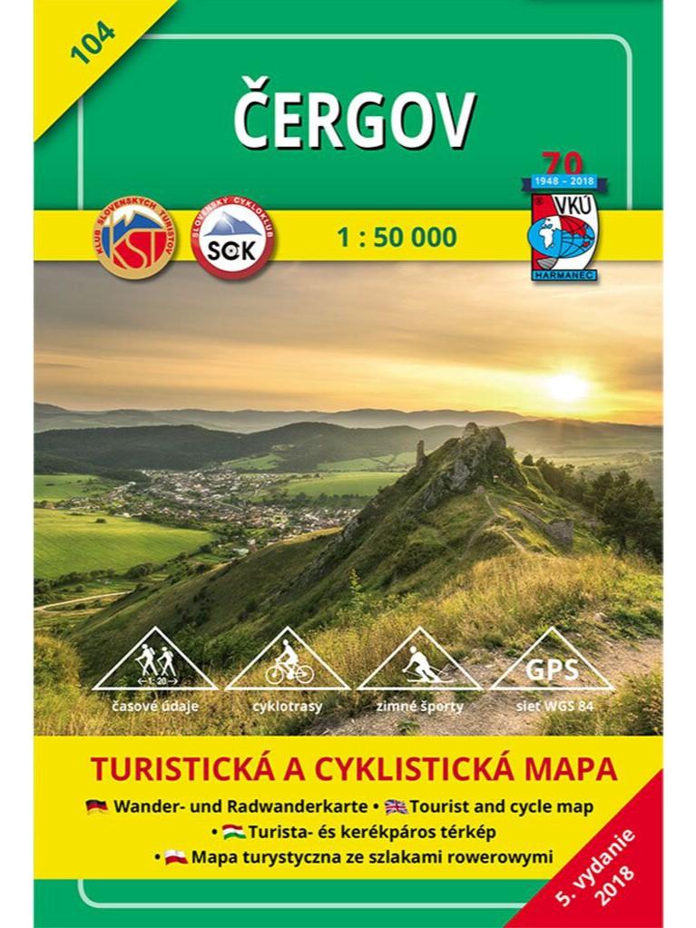 Čergov 104 Turistická mapa 1:50 000