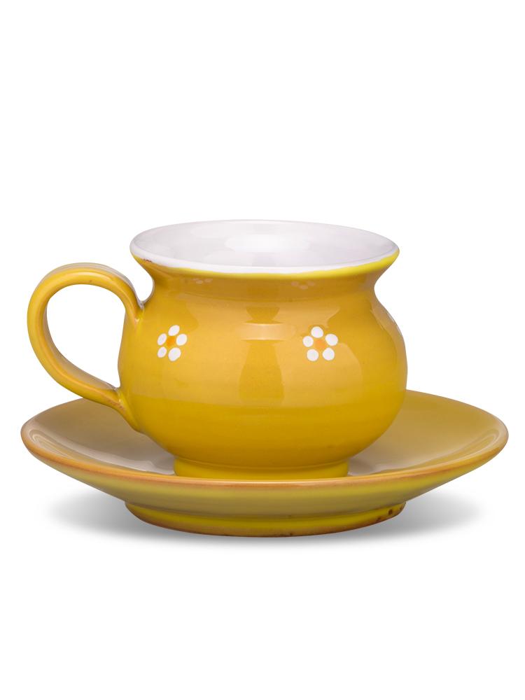 Šáločka s tanierikom mini žltá