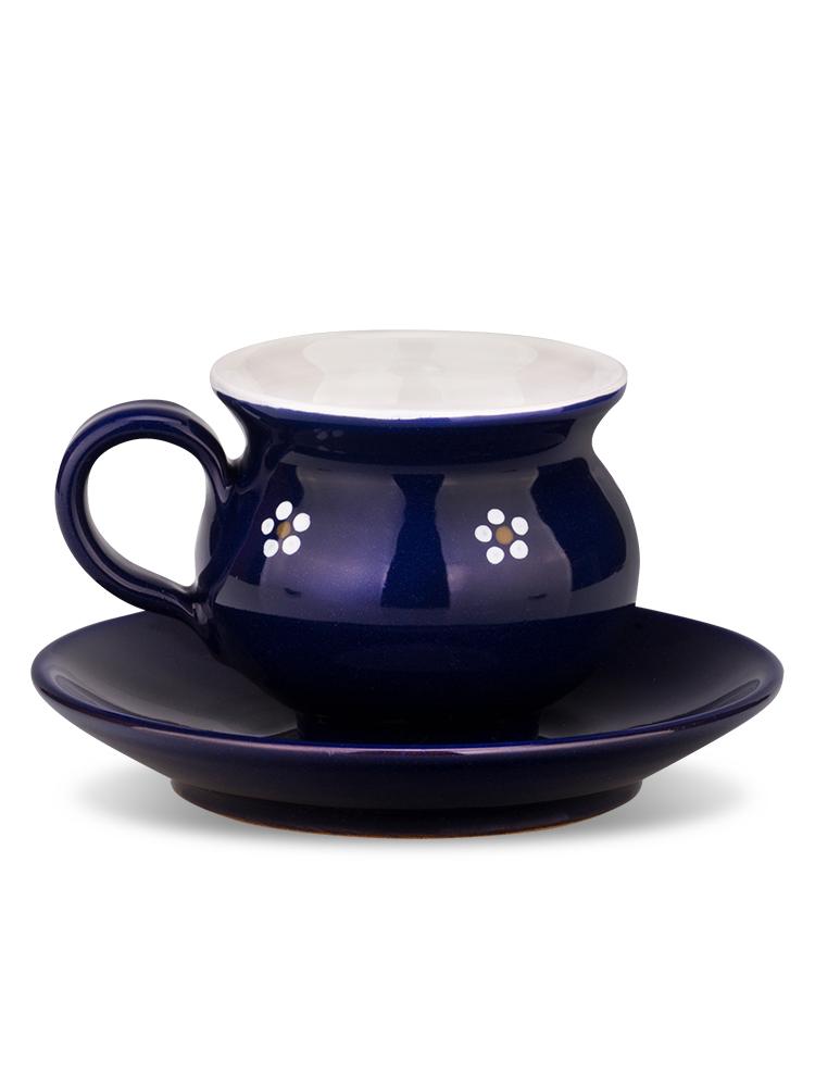 Šáločka s tanierikom mini modrá