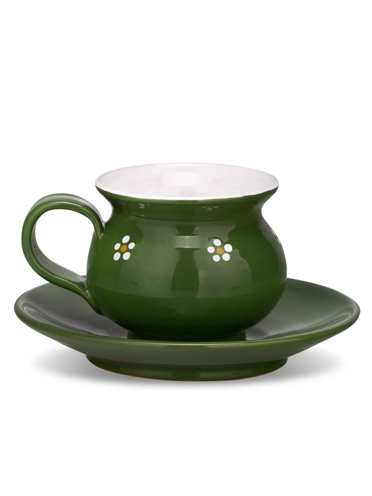 Šáločka s tanierikom mini zelená