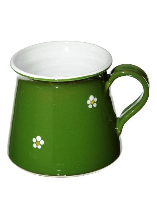 Keramický hrnček sólo - zelený