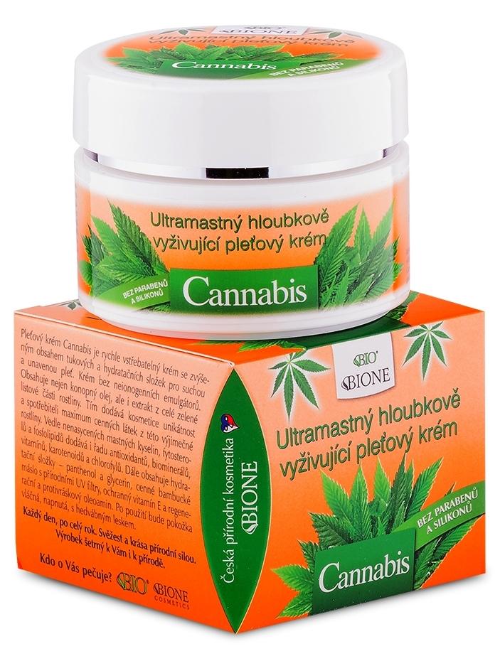 Bione Cosmetics - Ultramastný vyživujúci pleťový krém Cannabis 51ml