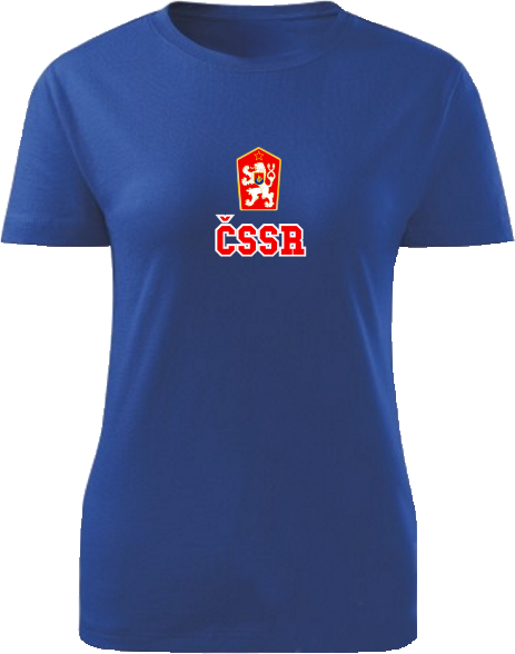 Tričko ČSSR Dámske klasik Kráľovské modré