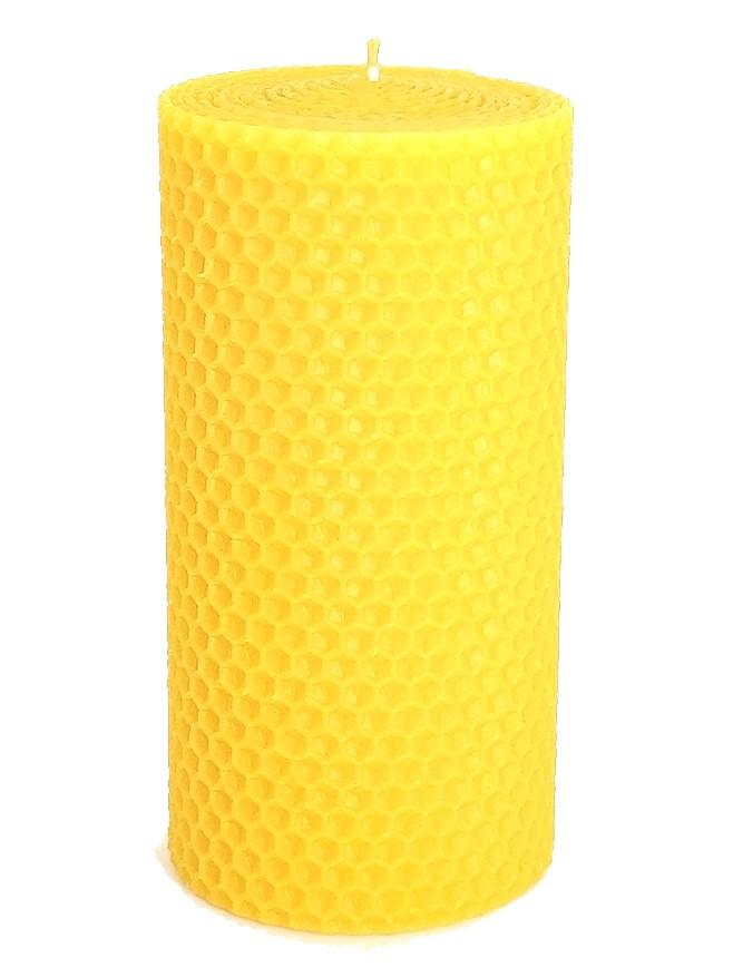 Sviečka včelí vosk žltá 130mm/70mm