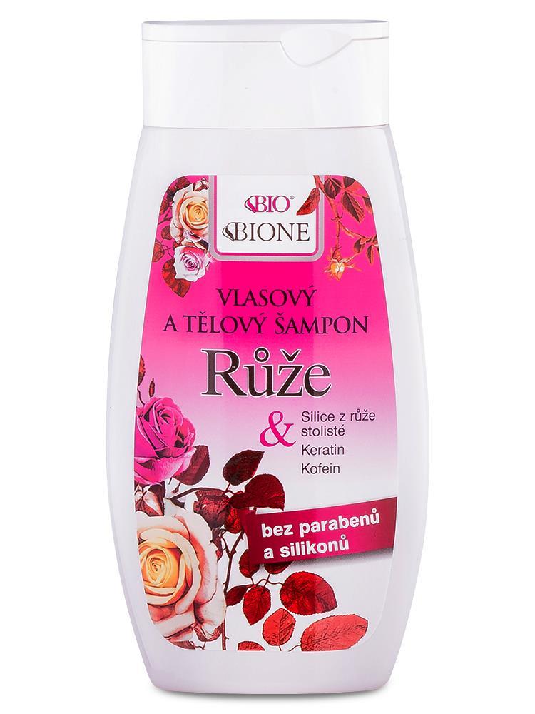 Bione Cosmetics - Vlasový a telový šampón Ruža 260ml