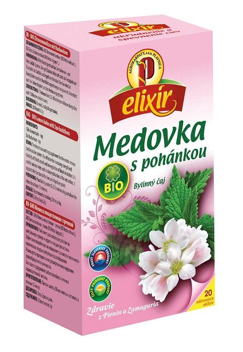Agrokarpaty elixír medovka s pohánkou bio bylinný čaj 20x1,5g