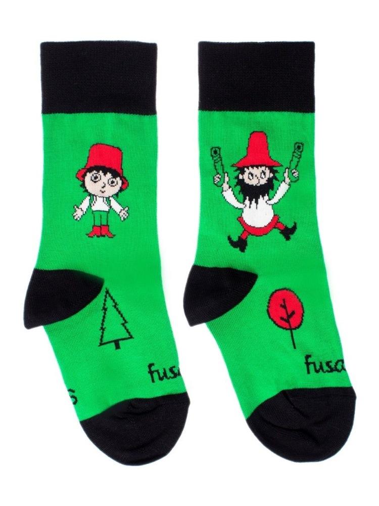 Fusakle ponožky detský Rumcajz zelený
