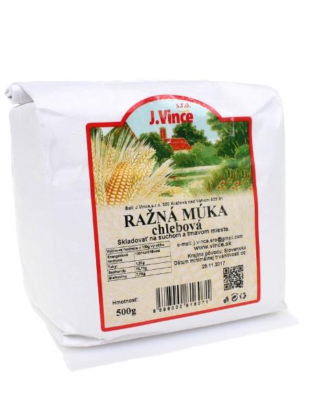 J. VINCE Ražná múka - chlebová 500g